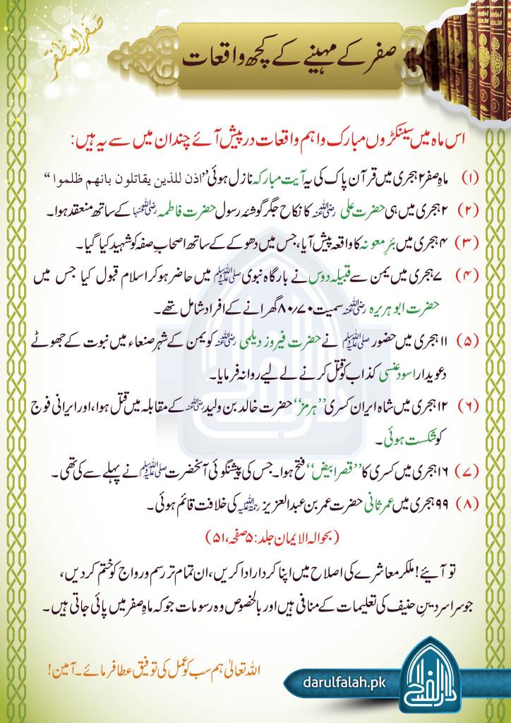 Safar Ky Mahiny Ky Waqiat