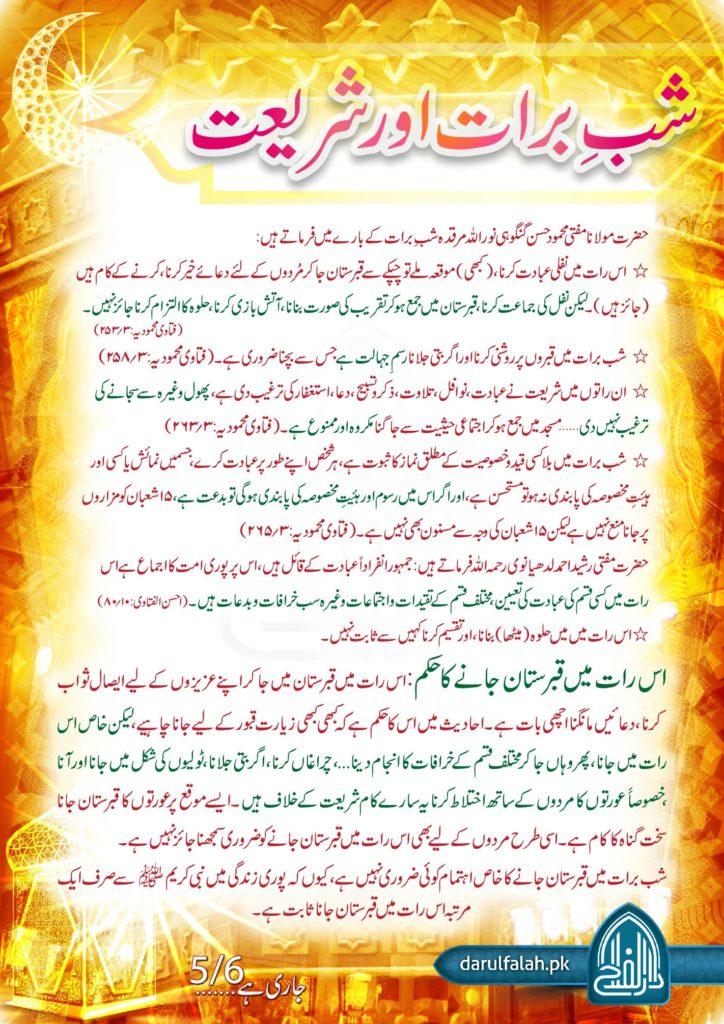 Shab e Barat Aur Shariat 5