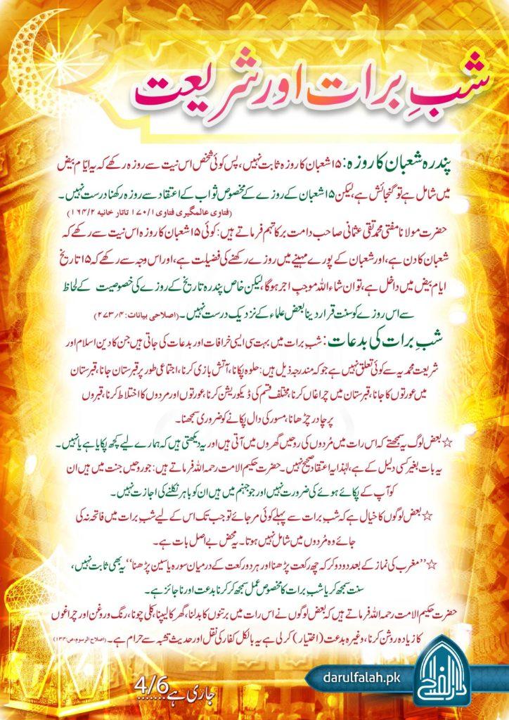 Shab e Barat aur Shariat 4