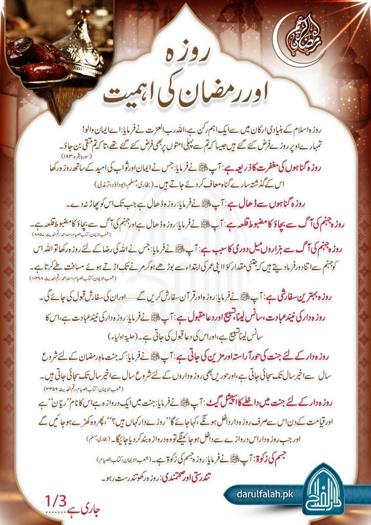 Roza Aur Ramzan Ki Ahmiyat 1