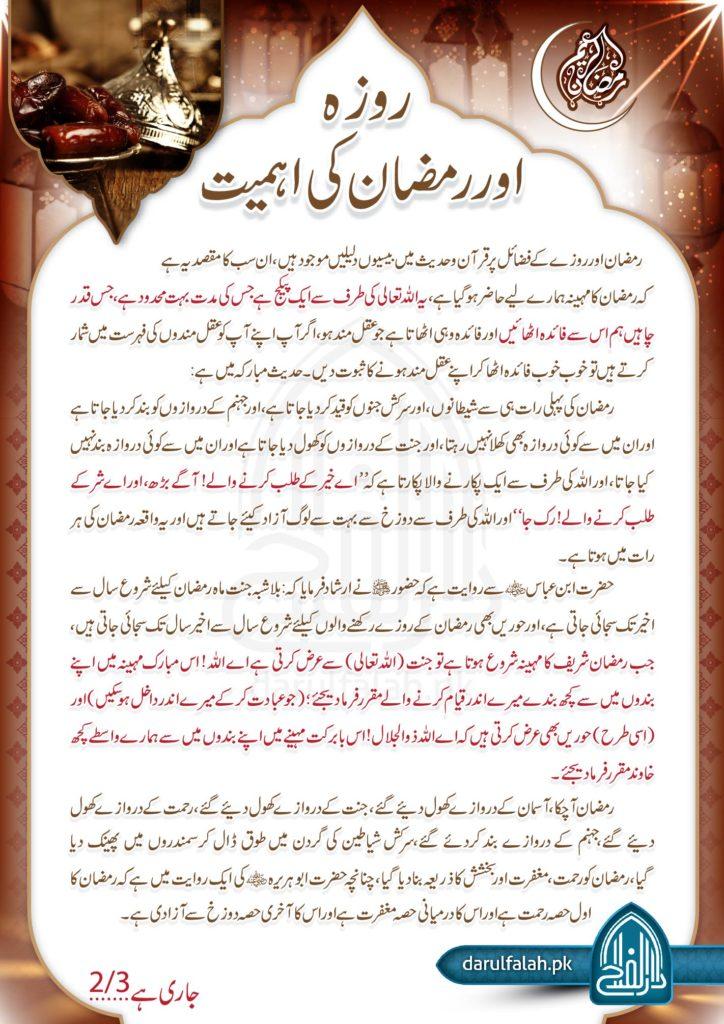 Roza Aur Ramzan Ki Ahmiyat 2